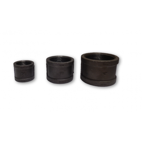Sts black malleable iron psi couplings collars