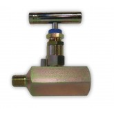 "1/4"" MALE X FEMALE 6K PSI CARBON STEEL NEEDLE VALVE - CHEM OIL PRODUCTS"