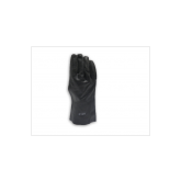 "BLACK PVC GLOVE SEMI ROUGH FINISH (L:12"") 12PK"