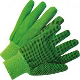 CANVAS GLOVE W/PVC (FINGER) GLOVES – GREEN-8 OZ- 12 PK