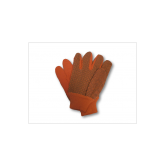 CANVAS GLOVES W/PVC (FINGER) GLOVES- ORANGE- 8 OZ- 12PK
