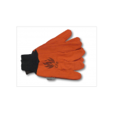 FIRE RESISTANT GLOVES 100% COTTON 18 OZ  DOUBLE PALM -12PK-ORANGE-12PK