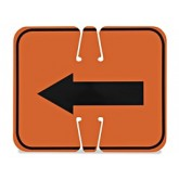 REVERSIBLE ARROW CONE SIGN
