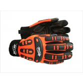 JESTER MX209 PVC PATCHED PALM IMPACT GLOVE HI-VIZ ORANGE