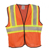 SAFETY VEST MESH TWO TONE ORANGE 2XL - 3XL