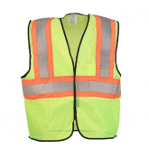 SAFETY VEST MESH TWO TONE YELLOW 2XL - 3XL
