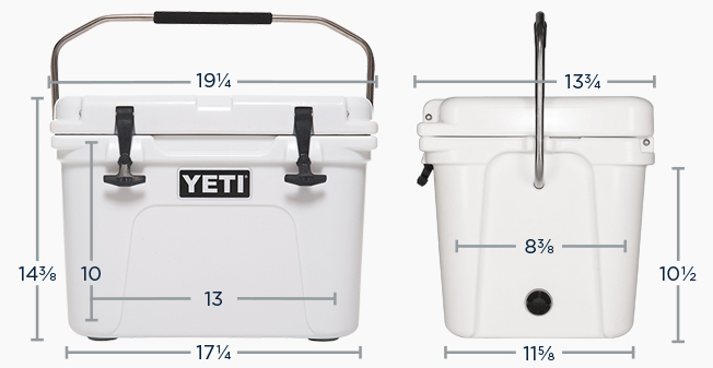 YETI ROADIE DIMENSIONS