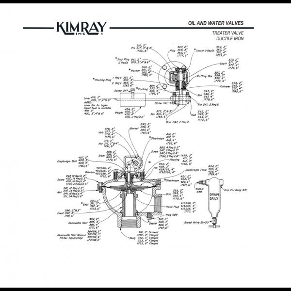kimray dump valve repair kit