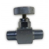 "1/4"" MALE X MALE 6K PSI CARBON STEEL MINI (RH) NEEDLE VALVE - CHEM OIL PRODUCTS"