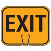 TRAFFIC CONE SIGN EXIT