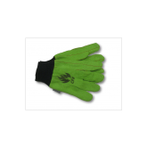 FIRE RESISTANT GLOVES 100% COTTON 18 OZ  DOUBLE PALM -12PK-GREEN-12PK