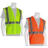PIP 302-0702 ECONOMY TYPE R CLASS 2 MESH SAFETY VEST