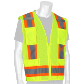 Type R Class 2 Two-Tone Surveyor Mesh Safety Vest - Yellow/Lime